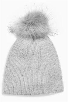 Cashmere Blend Pom Hat