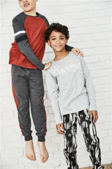 Slogan Long Pyjamas Two Pack (3-16yrs)