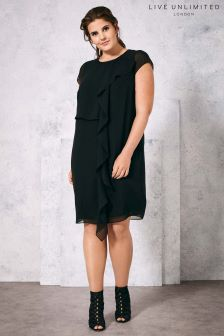Live Unlimited Black Frill Front Dress