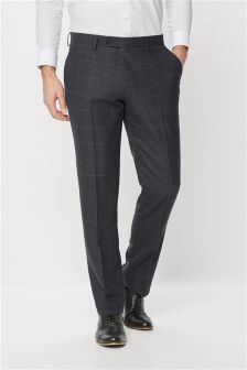 Check Regular Fit Suit: Trousers