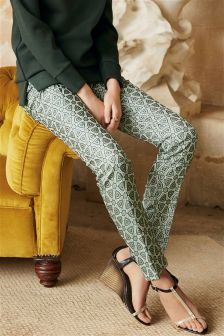 Metallic Geo Jacquard Trousers