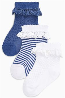 Ruffle Socks Three Pack (Younger Girls)