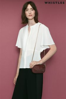 Whistles Ivory Esme Silk Blouse