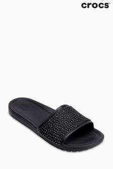 Crocs™ Black Sloane Embellished Slider