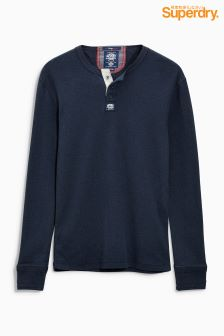 Superdry Navy Henley Sweat