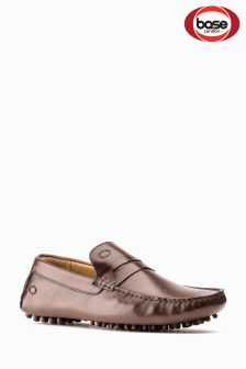 Base London Brown Slip-On Shoe