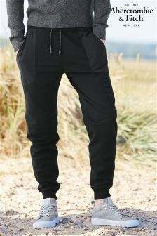 Abercrombie & Fitch Black Cargo Jogger