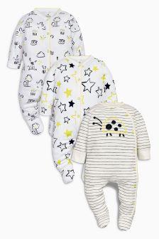 Ladybird Sleepsuits Three Pack (0mths-2yrs)