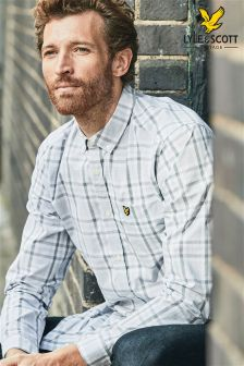 Lyle & Scott Grey Tartan Check Shirt