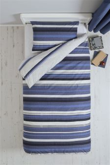 2 Pack Blue Stripe Bed Set