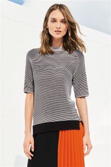 Ripple Contrast Sweater