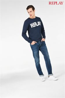 Replay® Grover Straight Leg Stretch Selvedge Jean