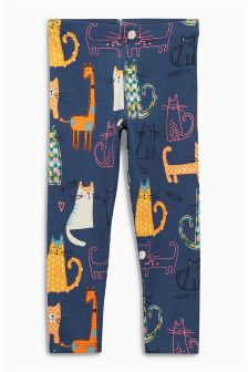 Cat Print Leggings (3mths-6yrs)