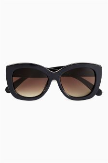 Bee Detail Chunky Frame Sunglasses