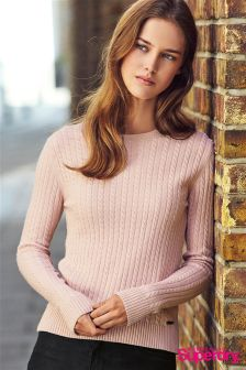 Superdry Pink Luxe Mini Cable Knit