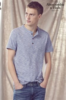 Abercrombie & Fitch Blue Marl Henley