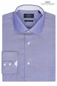 Signature Slim Fit Premium Herringbone Shirt