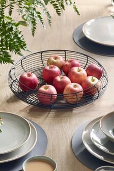 Black Wire Fruit Bowl