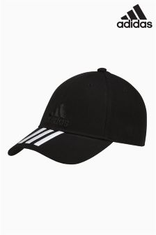 adidas Black 3 Stripe Cap