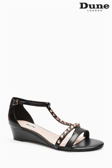 Dune Meereen Black Stud Wedge Sandal