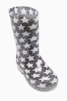 Glitter Star Wellington Boots (Older Girls)