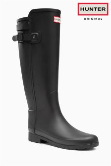 Hunter Original Black Matte Premium Tall Wellington Boot