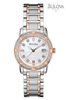 Bulova Diamond Two Tone Watch