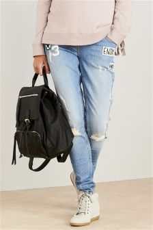 Maternity Badged Skinny Jeans