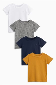 Short Sleeve T-Shirt Four Pack (3mths-6yrs)