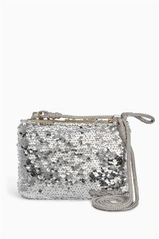 Sequin Envelope Bag