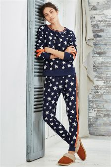 Fleece Star Print Pyjamas