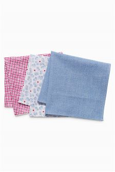 Cotton Pocket Square Three Pack