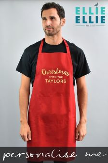 Personalised Family Christmas Apron