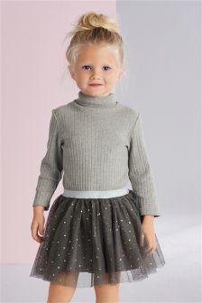 Roll Neck Two Part Dress (3mths-6yrs)