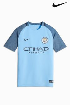 Nike Blue 2016/17 Manchester City FC Stadium Home Jersey
