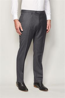 British Wool Stripe Suit: Trousers