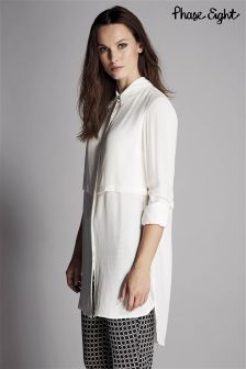 Phase Eight Ivory Maida Crepe Tunic