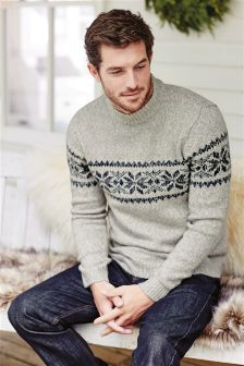 Snowflake Turtle Neck Christmas Jumper
