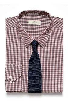Check Shirt And Tie Set