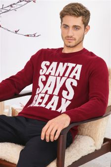 Santa Says Relax Christmas Jumper