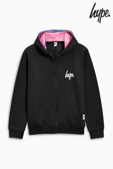 Hype Black Zip Hoody