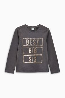 Best Big Sis Long Sleeve T-Shirt (9mths-6yrs)