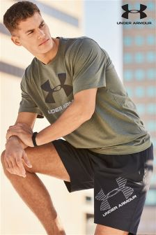 Under Armour Gym Downtown Green Sportstyle Logo T-Shirt