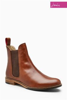 Joules Westbourne Brown Leather Chelsea Boot
