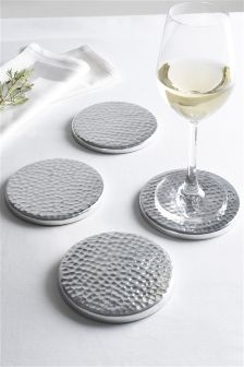 Set Of 4 Hammered Coasters