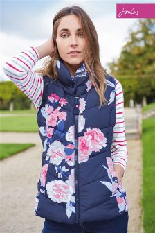Joules Merriton Navy Floral Gilet