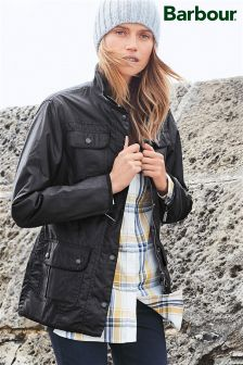 Barbour® Black Ladies Utility Wax Jacket