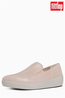 FitFlop™ Pink Superskate™ Lizard Print Suede Loafer