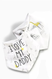 Mummy And Daddy Dribble Bibs Two Pack