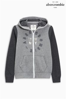 Abercrombie & Fitch Grey Moose Zip Hoody
